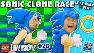 getlinkyoutube.com-SONIC THE HEDGEHOG TWINS! LEGO Dimensions Fun w/ Dr Robotnik Battle (Let's Build & Play YEAR 2 #20)