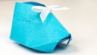 getlinkyoutube.com-Origami Babyschuhe aus Papier falten, Bastelanleitung