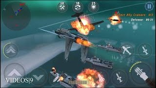 getlinkyoutube.com-GUNSHIP BATTLE : Protect Ally Cruisers - F-15 E Strike Eagle