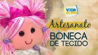 getlinkyoutube.com-Artesanato   Boneca Grande de Tecido   Cabelo Boneca de Pano