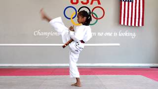 Table Form 1 - Taegeuk 1 Jang - Salim's Taekwondo