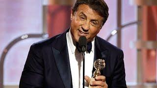 flushyoutube.com-Sylvester Stallone wins 2016 Golden Globe for best supporting actor