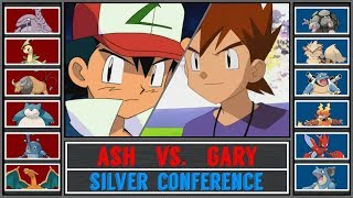 Ash vs. Gary (Pokémon Sun/Moon) - Pokémon League/Silver Conference