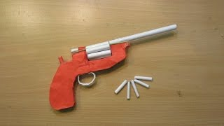 getlinkyoutube.com-How to make a Paper Revolver  that Shoots Paper Bullet (Paper Gun)