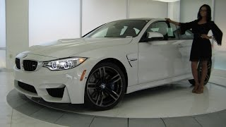"getlinkyoutube.com-2016 BMW M4 Full LED Lights / Exhaust Sound / 19"" Black M Wheels / BMW Review"