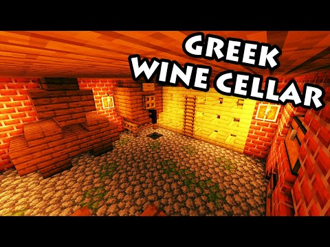 Minecraft Tutorial #33 - How to Build a Wine Cellar (HD)