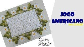 getlinkyoutube.com-Jogo Americano em crochê com Margaridinhas por Carine Strieder