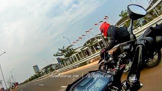 getlinkyoutube.com-Drag race Honda Sonic 150R vs Satria FU 150