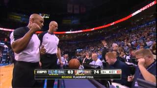 getlinkyoutube.com-Vince Carter elbows Steven Adams. Gets ejected. Adams: UNFAZED!
