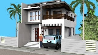 getlinkyoutube.com-Small Modern 2 Level House with Interior Walkthrough