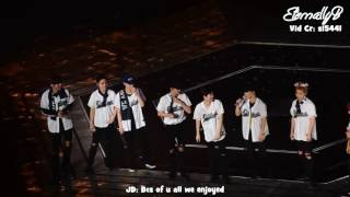 getlinkyoutube.com-[ENG SUBS] 161126 EXOrDium Taipei - Ending Ment Full ft LOVE SHOT