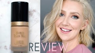 getlinkyoutube.com-Holy Grail Foundation For Oily Skin? Too Faced Born This Way Review | Sharon Farrell