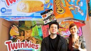 getlinkyoutube.com-Assaggi snack americani #5: Twinkies, Oreo brownies ecc..