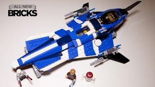 getlinkyoutube.com-Lego Star Wars 75087 Anakins Custom Jedi Starfighter Speed Build Review