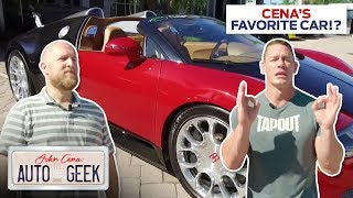 John Cena's FAVORITE CAR of all time is the BUGATTI VEYRON! - John Cena: Auto Geek