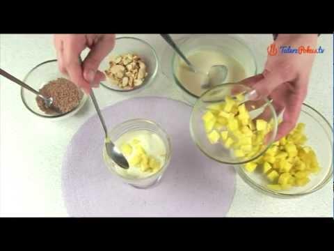 Deser z mango i białej czekolady