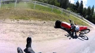 getlinkyoutube.com-Lowside Crash   Dislocated Shoulder   CRF250L