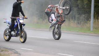 getlinkyoutube.com-KTM EXC 125 | YAMAHA WR 125 - WHEELIES - COASTER WHEELIES - BURNOUTS & FUN