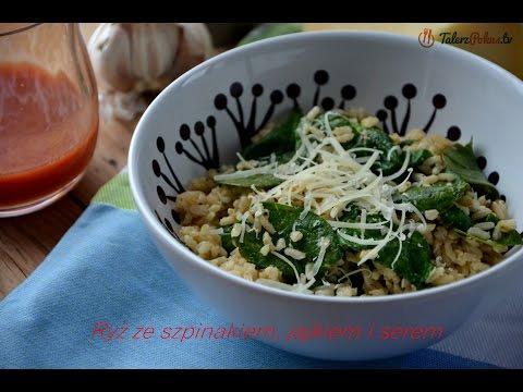 Ryż ze szpinakiem, jajkiem i parmezanem