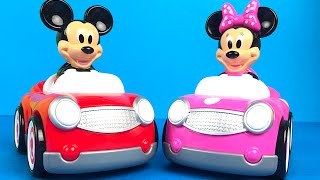 getlinkyoutube.com-Mickey Mouse and Minnie Mouse Push and Go Cars at Mickey Mouse ClubHouse Goofy Pluto