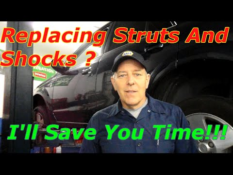 How to replace front and rear struts and shocks on a Saturn