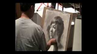 getlinkyoutube.com-Portrait Drawing Demo by Prof. James Wu