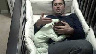 Father goes into baby crib * The Baby Whisperer