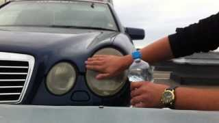 getlinkyoutube.com-DIY: Mercedes-Benz E55 AMG Headlight Restoration with Toothpaste