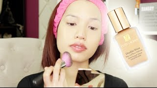 getlinkyoutube.com-Estee Lauder Double Wear 15 Hour Foundation | First Impression Review