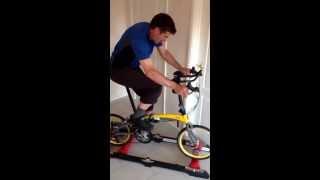 Tern verge x30 on training rollers