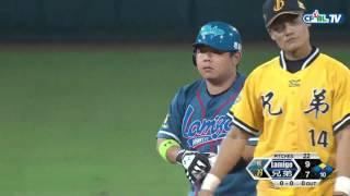 09/26 Lamigo vs 兄弟 十局上,陳鴻文發生暴傳!桃猿三支安打,逆轉超前兩分