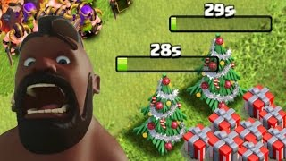 Clash of Clans - Removing 2 Christmas Trees (Same Base) + 1.3 Million Xmas Loot! 2015