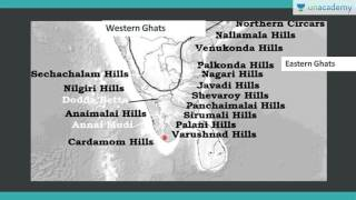 Unacademy Geography lectures for IAS:  Eastern and western ghats: Complete Outline