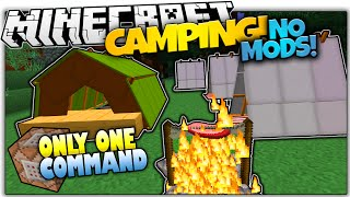 getlinkyoutube.com-CAMPING IN VANILLA MINECRAFT! | Tents & Bonfires | Only One Command (Minecraft Vanilla Mod)