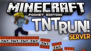 TNT RUN SERVER!!! - Play The TNT Run Mini Game on MCPE - Minecraft Pocket Edition
