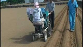 getlinkyoutube.com-じゃがいも植付機ジャガール 実演映像 Potato Planter  made by FUJISHITA Ltd.
