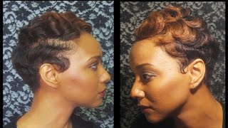 getlinkyoutube.com-How to: watch how I finger wave and curl my short hair