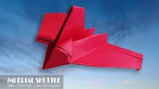 getlinkyoutube.com-PAPER AIRPLANES: How to make a Paper Airplane / paper plane model | Star Wars Imperial Shuttle