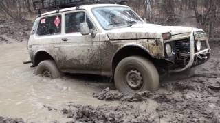 нивы и рэнглер (niva and jeep wrangler) off road