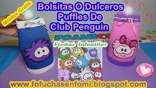 getlinkyoutube.com-BOLSITAS O DULCEROS EN FOAMI CON LOS PUFFLES DE CLUB PENGUIN