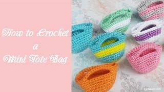getlinkyoutube.com-How to Crochet a Mini Tote Bag