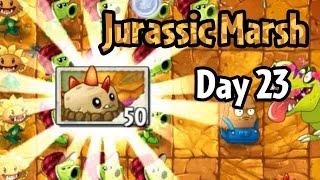 getlinkyoutube.com-Plants vs Zombies 2 - Jurassic Marsh Day 23: Primal Potato Mine