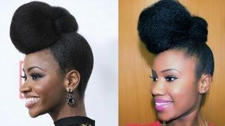 getlinkyoutube.com-Teyonah Parris Inspired Updo on Natural Hair (Darico Jackson)