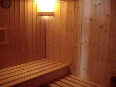 Séance sauna au retour d'une sortie raquettes