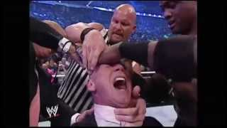 getlinkyoutube.com-Donald Trump bodyslams, beats and shaves Vince McMahon at Wrestlemania XXIII