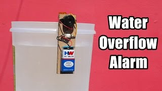 How to Make a Water Overflow Alarm at Home