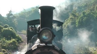 getlinkyoutube.com-Burma Mines Railway, steam train from Namtu to Lopah, Myanmar