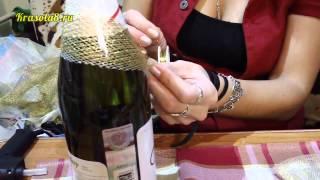 getlinkyoutube.com-Украшение на шампанское