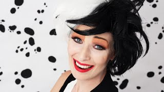 getlinkyoutube.com-CRUELLA DE VIL I 101 DALMATIANS - MAKEUP TUTORIAL