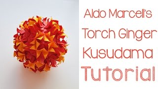 getlinkyoutube.com-Origami Torch Ginger Kusudama Tutorial